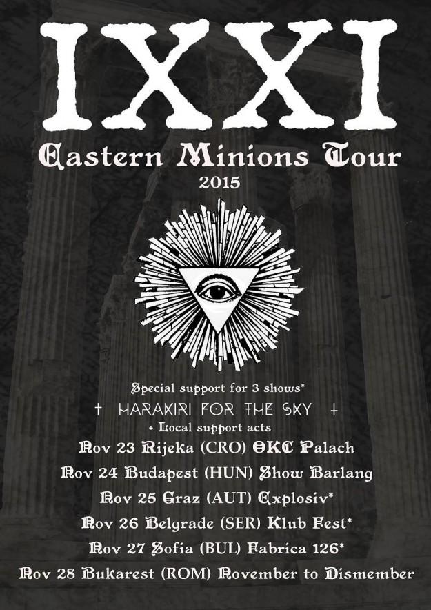 IXXI tour poster