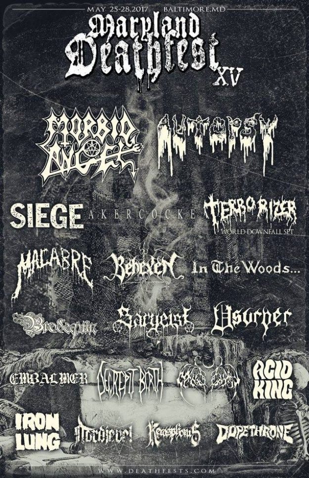 MARYLAND DEATHFEST XV 2017