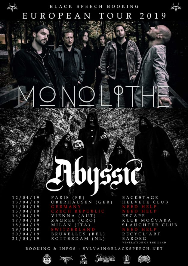 ABYSSIC european tour 2019